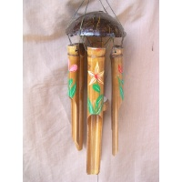 coco shell painted windchime